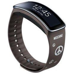Ремешок для Samsung Gear Fit (ET-SR350RSEGRU) (серебристо-серый)