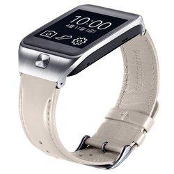 Кожаный ремешок для Samsung Gear 2, Gear 2 Neo (ET-SR380LWEGRU) (белый)