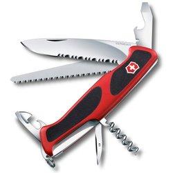 Нож перочинный Victorinox RangerGrip 155 0.9563.WC 130мм 12 функций красно-чёрный