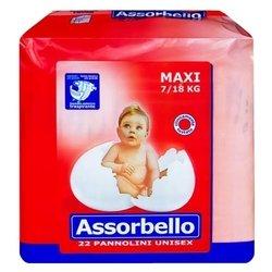 Assorbello подгузники Maxi (7-18 кг) 22 шт.