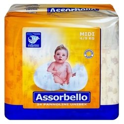 Assorbello подгузники Maxi (4-9 кг) 24 шт.