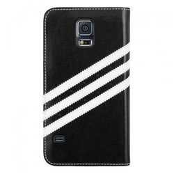 чехол-книжка для samsung galaxy s5 (adidas booklet case 17208) (черный)