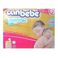 Canbebe подгузники 1 (2-5 кг) 92 шт.