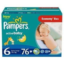 pampers active baby 6 (15+ кг) 76 шт.
