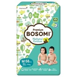 bosomi natural cotton new m (7-11 кг) 58 шт.