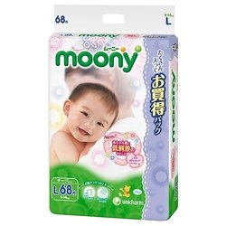 moony air silky l (9-14 кг) 68 шт.