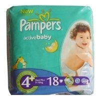 pampers active baby 4+ (9-16 кг) 18 шт.