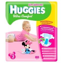 Huggies Ultra Comfort для девочек 3 (5-9 кг) 80 шт.
