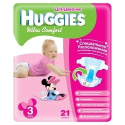 Huggies Ultra Comfort для девочек 3 (5-9 кг) 21 шт.