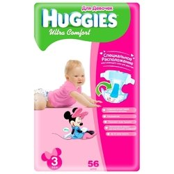 Huggies Ultra Comfort для девочек 3 (5-9 кг) 56 шт.