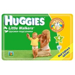 huggies little walkers 4 (7-15 кг) 52 шт.