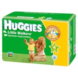 huggies little walkers 4 (7-15 кг) 34 шт.