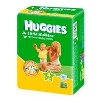huggies little walkers 4 (7-15 кг) 17 шт.