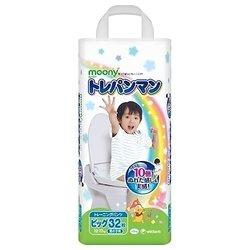Moony тренировочные трусики для мальчиков (12-17 кг) 32 шт.