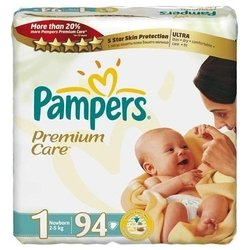 pampers premium care 1 (2-5 кг) 94 шт.