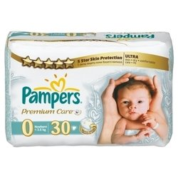 Pampers Premium Care 0 (1-2,5 кг) 30 шт.