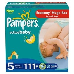 pampers active baby 5 (11-18 кг) 111 шт.