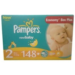 pampers new baby 2 (3-6 кг) 148 шт.