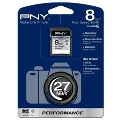 pny performance sdhc class 10 uhs-i u1 8gb