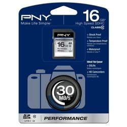 pny performance sdhc class 10 uhs-i u1 16gb