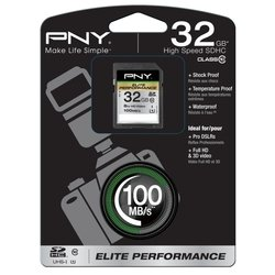 pny elite performance sdhc class 10 uhs-i u1 32gb