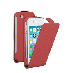 чехол-флип для apple iphone 4, 4s (deppa flip cover) (красный)
