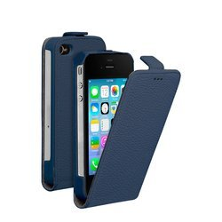 чехол-флип для apple iphone 4, 4s (deppa flip cover) (синий)