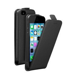 чехол-флип для apple iphone 5, 5s (deppa flip cover) (черный)
