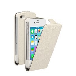чехол-флип для apple iphone 5, 5s (deppa flip cover) (белый)