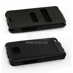Кожаный чехол-флип для Samsung Galaxy S2 i9100 (Griffin) (черный)