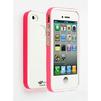 Чехол-накладка для Apple iPhone 4, 4S (LF CD126310) (белый/розовый) - Чехол для телефонаЧехлы для мобильных телефонов<br>Плотно облегает корпус и гарантирует надежную защиту от царапин и потертостей.<br>