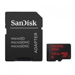 Карта памяти microSDXC Sandisk Ultra IMAGING 128Gb Class10 + SD Adapter (SDSDQUI-128G-G46)