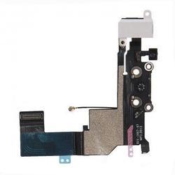 Шлейф для Apple iPhone 5S (разъём зарядки, разъём гарнитуры, микрофон, антенна) (R0002512) (белый)