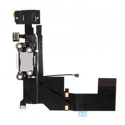 Шлейф для Apple iPhone 5S (разъём зарядки, разъём гарнитуры, микрофон, антенна) (R0002513) (черный)
