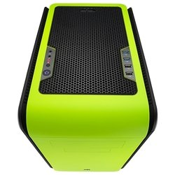 aerocool dead silence cube green window edition