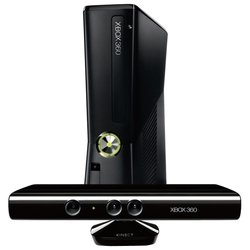 microsoft xbox 360 slim 4gb / 4 gb + сенсор движения kinect + игра carnival games + 3m live gold + kinect adventures (r7g-00009)