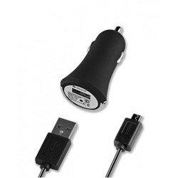 Автомобильное зарядное устройство USB + кабель micro USB - USB Deppa