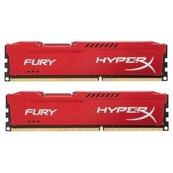 Память Kingston 16Gb 1866Hz DDR3 CL10 HyperX FURY Red Series (HX318C10FRK2/16) RTL