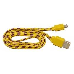 Кабель PALMEXX USB - micro USB (желтый-сиреневый)