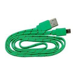 Кабель PALMEXX USB - micro USB (зеленый-черный)