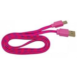 Кабель PALMEXX USB - micro USB (малиновый-сиреневый)