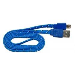 Кабель PALMEXX USB - micro USB (синий-черный)