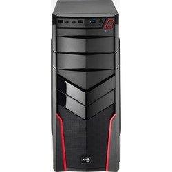 Корпус Aerocool V2X без БП Red Edition (4713105952650) (черный/красный)