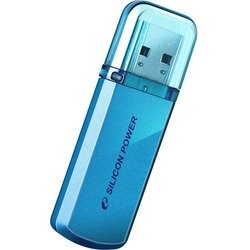 флеш диск silicon power 128gb helios 101 sp128gbuf2101v1b usb2.0 голубой