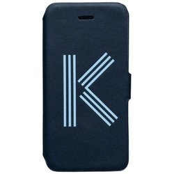 чехол-книжка для apple iphone 5c (kenzo folio logo case k) (синий)