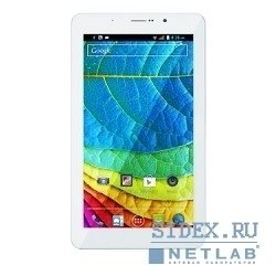 "планшет iru m721g mtk8312 2c a7, 1gb, 8gb, 7"" ips 1024*600, 3g, white, and4.2, 2mp, 0.3mp , fm, phone [907721]"