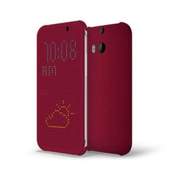 Чехол-книжка для HTC One E8 (HTC Ace Dot Flip Case HC M110) (малиновый)