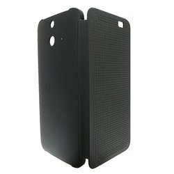 Чехол-книжка для HTC One E8 (HTC Ace Dot Flip Case HC M110) (серый)