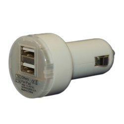 Универсальное автомобильное зарядное устройство 2xUSB (Palmexx PX/PCA-2USB-DH-WH) (белый)