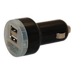 Универсальное автомобильное зарядное устройство 2xUSB (Palmexx PX/PCA-2USB-DH-BL) (черный)